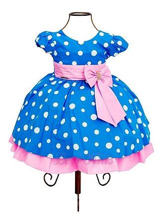 Vestido Festa Infantil Galinha Pintadinha Rosa