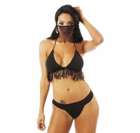 Fantasia Erótica Feminina Moda Intima - Mini Bandida