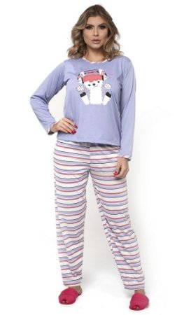 Pijama Longo Listrado - 0870