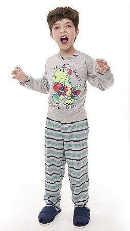 Pijama Mescla Longo - 0141