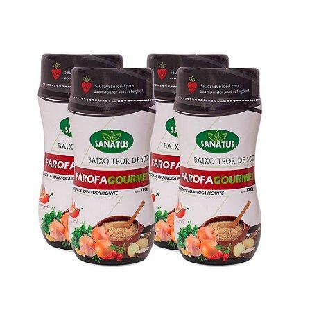 KIT com 04 Farofa Gourmet Mandioca Picante 320g cada