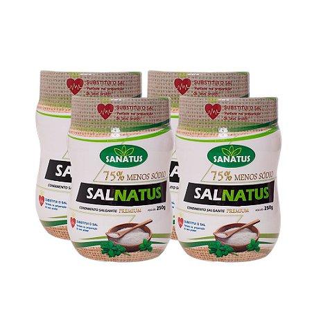 Kit 04 salnatus premium 75 menos sódio  250g cada