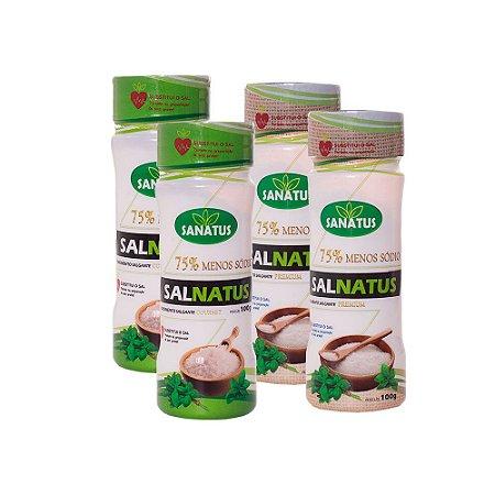 KIT 02 Salnatus Gourmet 75% Menos Sódio 100g cada + 02 Salnatus Premium 75% Menos Sódio 100g cada