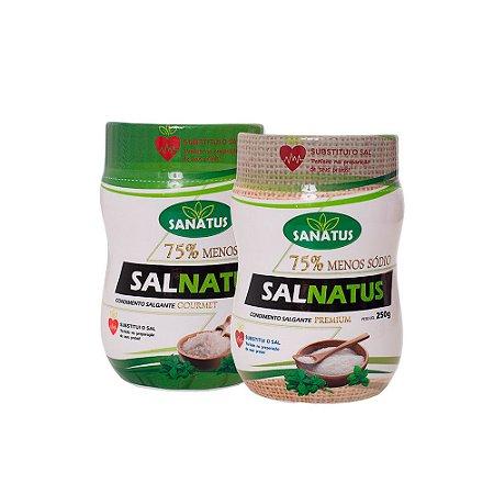 KIT SAL Gourmet 75% Menos Sódio 250g + Salnatus Premium 75% Menos Sódio 250g
