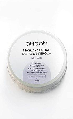 Máscara Facial Pó Pérola c Ácido Hial Nano 100g Amoah