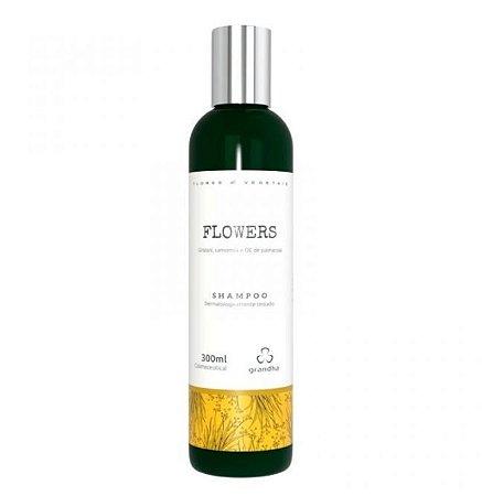 Flowers Shampoo Couro Cabeludo e Cabelos Delicados - 300 ml Grandha