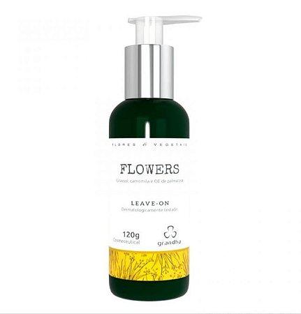 Flowers Leave-on Couro Cabeludo e Cabelos Delicados - 120 g Grandha