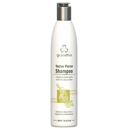 Vector Force Shampoo Cabelos Cacheados Low Poo 300ml Grandha