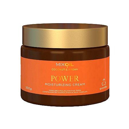 Coconut & Argan Power Moisturizing Cream Polinutritiva e Reparadora 300g Grandha