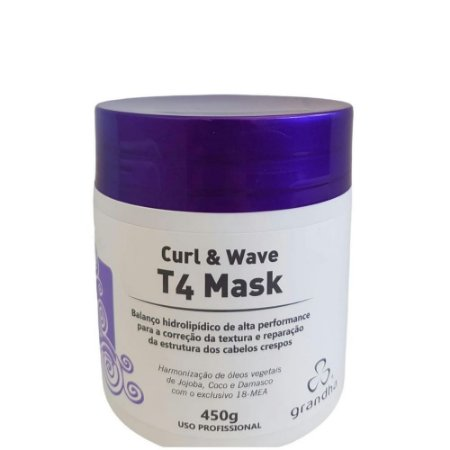 Curl&Wave T4 MASK Redefinição Cabelos Crespos 450g Grandha