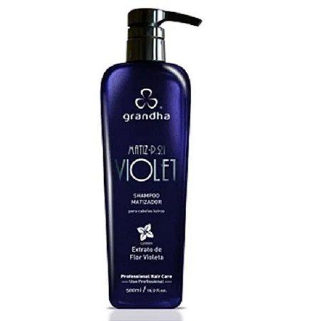 Matiz P.21 Violet Shampoo Cabelos Loiros 500ml Grandha