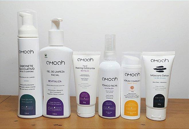 Kit Detox Facial Controle de Oleosidade Amoah