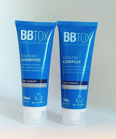 Kit BBTox 120ml Grandha (shampoo e condicionador)