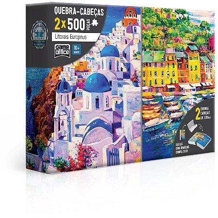 Litorais Europeus - Grécia e Itália - Quebra-cabeça - 500 peças