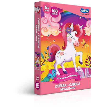Reino dos Unicórnios - Quebra-cabeça - 100 peças