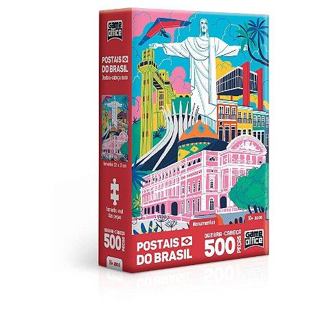 Postais do Brasil - Monumentos - Quebra-Cabeça - 500 peças Nano
