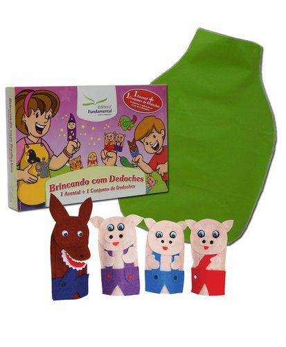 Dedoches e Avental Os Três Porquinhos