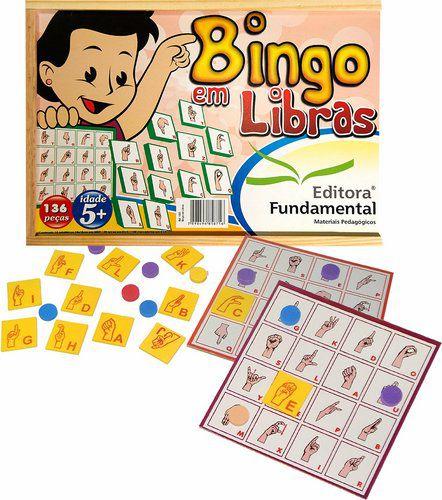 Bingo de Libras 136 Peças