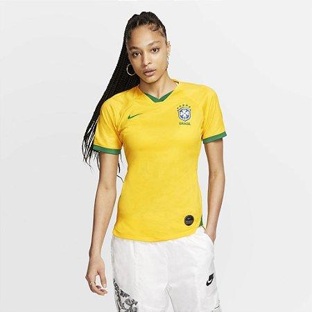 CAMISETA NIKE CBF BRASIL FEMININA