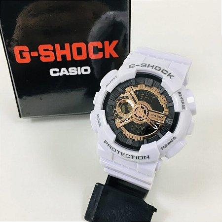 G-SHOCK GA 110 - Branco/Dourado