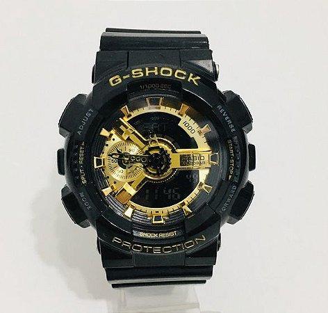 G-SHOCK GA 110 PRETO/DOURADO
