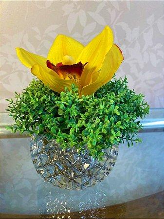 Mini Arranjo Orquídea amarela