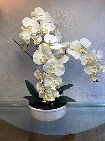 Arranjo Permanente Triplo de Orquídea