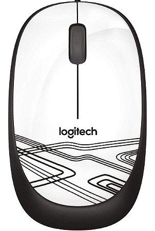 Mouse Com Fio Logitech M105 Usb Optico Branco