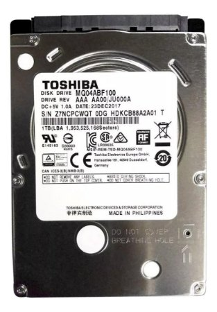 Disco Rígido Interno Toshiba Mq04abf Series Mq04abf100 1tb