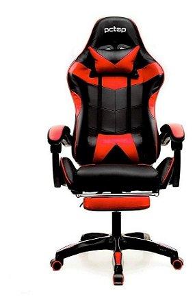 Cadeira Gamer Pctop Se1006e Com Apoio Para Os Pés Vermelha