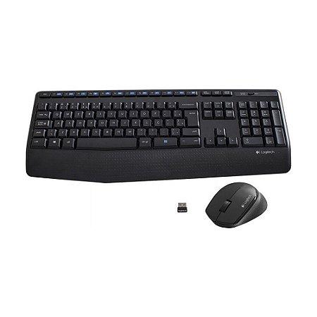 Kit Teclado E Mouse Sem Fio Logitech Mk345 Comfort