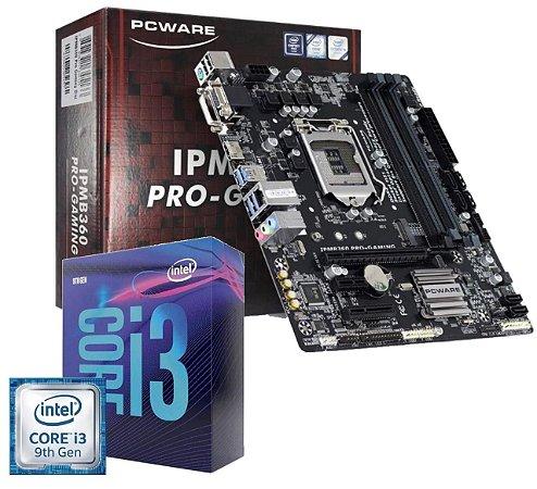Kit Upgrade Placa Mâe Pcware Ipmb360 Pro + Core I3-9100