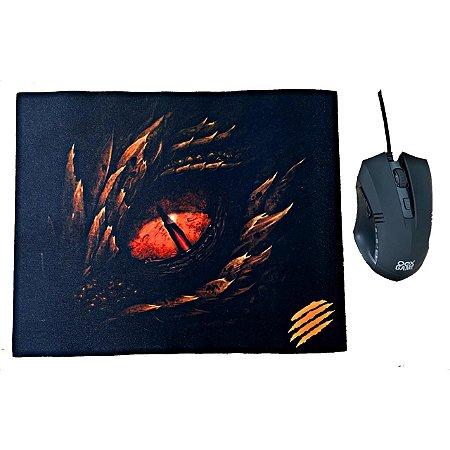 Mouse Gamer Barato Combo Oex Arena Mc102 Preto Com Mouse Pad