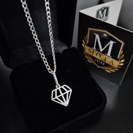 Pingente Prata 925 Diamante Pequeno