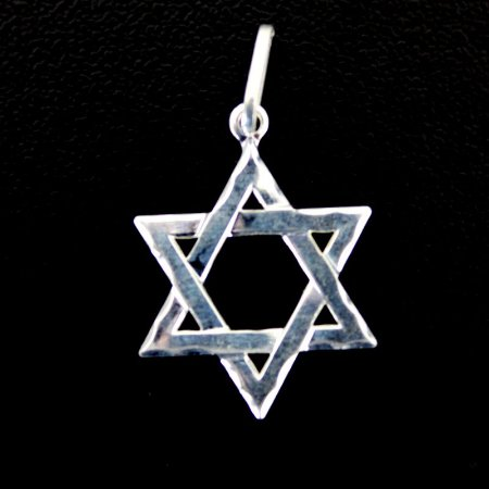 Pingente Prata 925 Estrela de Davi Pequeno