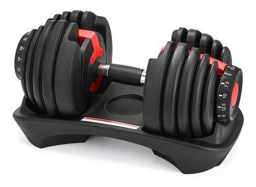 Halter Ajustável Selecionável Dumbbell Até 24KGs Fitness Musculação - Unidade