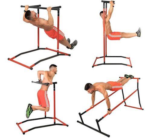 Estação Exercícios Musculação Paralelas Crossfit Barra Fixa