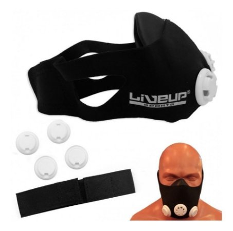 Máscara de Respiração Treinamento Várias Regulagens LiveUp