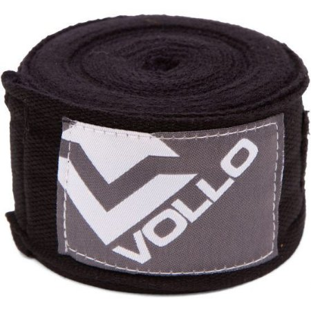 Bandagem Elástica Preta Treino Boxe/Muay Thai Luta Vollo