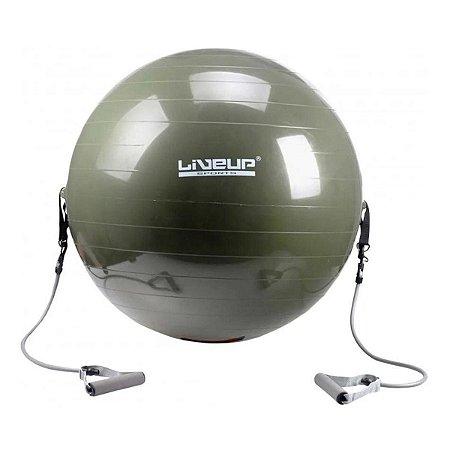 Bola Suiça 65cm Com Extensor Alongamento Físico Liveup