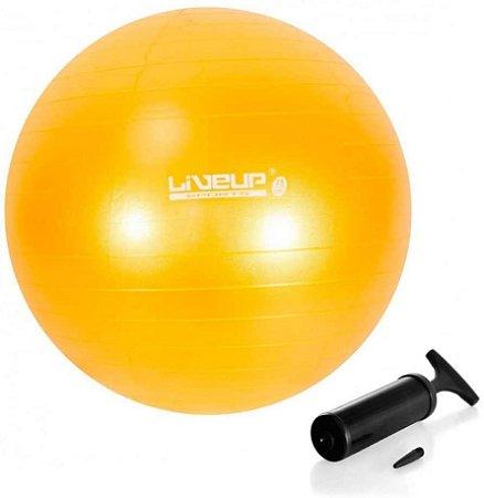 Bola Suíça Pilates Premium Com Bomba 75cm Liveup Anti Estouro