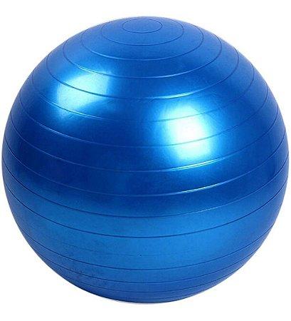 Bola Suiça Pilates Yoga Fisioterapia Gym Ball 65cm  Azul 1Fit