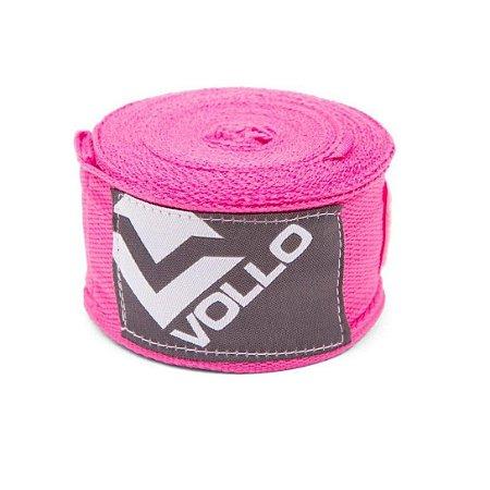 Bandagem Elástica Treino Boxe/Muay Thai Luta Vollo Rosa