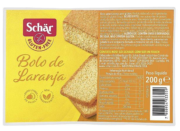 BOLO DE LARANJA SCHAR 200G