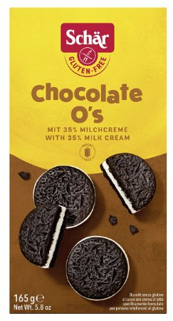 BOLACHA CHOCOLATE O'S SCHAR 165G