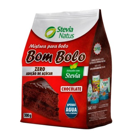 BOLO PRONTO BOM BOLO CHOCOLATE (SUCRALOSE E STEVIA) 300G