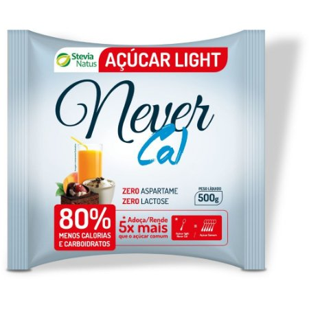 ADOCANTE ACUCAR LIGHT NEVER CAL 500g