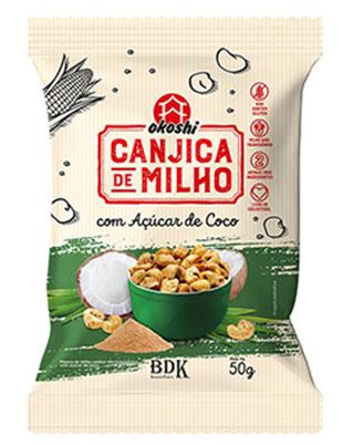 CANJICA DE MILHO C/AÇUCAR DE COCO 50g OKOSHI