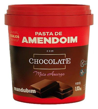 PASTA DE AMENDOIM CHOCO AMARGO MANDUBIM 1,02kg