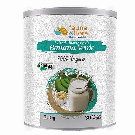 LEITE DE BIOMASSA DE BANANA VERDE FAUNA E FLORA 300GR